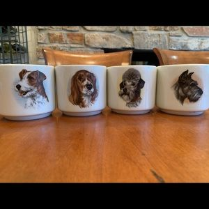 Vintage German mug set featuring dogs